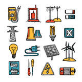Power And Energy Icon Set Stock Image