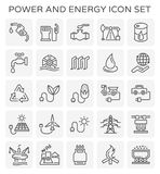 Power energy icon. Power and energy icon set royalty free illustration