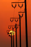 Power energy lines Royalty Free Stock Photo