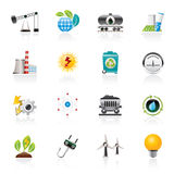 Power and energy production icons. Vector icon set Stock Photography