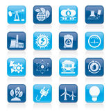 Power and energy production icons Stock Photography
