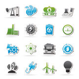 Power and energy production icons. Vector icon set Stock Photo