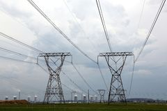 Power and Energy Pylons Royalty Free Stock Images