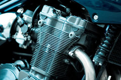 Power engine. Of a motorcycle Royalty Free Stock Photography