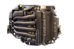 Power engine for yacht and ships isolated Royalty Free Stock Images