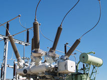 High voltage electrical substation Stock Images