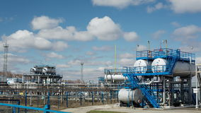 Power facility with pipe and tube for chemical operation stock video footage