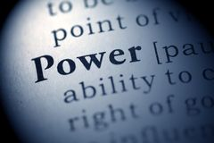 Power. Fake Dictionary, Dictionary definition of the word Power Stock Images
