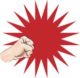 Power Fist. Just place your message into the empty area Stock Photo