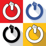 Power fist buttons set Stock Images