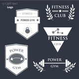 Power fitness gym vector logo Stock Photos