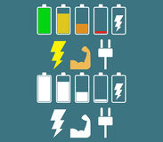 Power flat icon Stock Photography