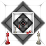 Power and freedom (chess metaphor) Stock Images