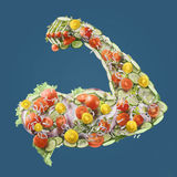 Power fresh salad Royalty Free Stock Images