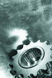 Power gear in green toning Stock Image