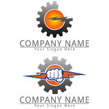 Power Gear logo Concept Logo Royalty Free Stock Photos