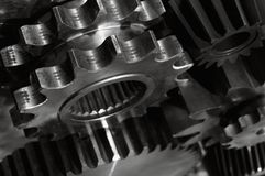 Power gears in action royalty free stock photography