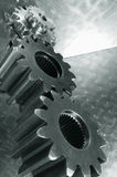 Power gears upside-down Stock Images