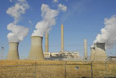 Power Generating Plant. Fossil Fuel Power Generating Plant Stock Photography