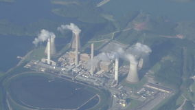 Power generating plant stock video