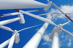 Power Generating Wind Turbine Stock Images
