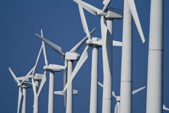 Power Generating Wind Turbines / Windmills Stock Image