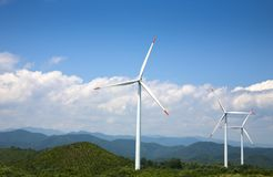 Power generating windmills Stock Photography