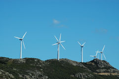 Power generating windmills Royalty Free Stock Image