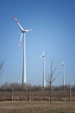 Power generating windmills Royalty Free Stock Photos