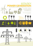 Power generation  concept designs Royalty Free Stock Photo