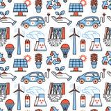 Power generation and ecologic energy icons Royalty Free Stock Image