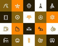 Power generation and oil industry icons. Flat style Stock Images