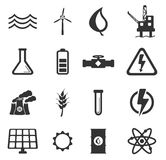 Power generation simply icons Royalty Free Stock Photography