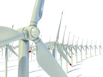Power generation wind turbines Royalty Free Stock Photography
