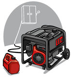 Power generator vector illustration
