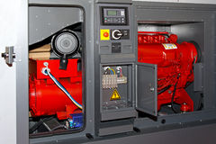 Power generator. Diesel power generator for emergency electrical backup Royalty Free Stock Photo