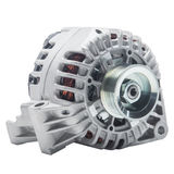 Power generator or alternator isolated on white background. Car engine parts. Power generator or alternator isolated on white background. Car engine parts Stock Images