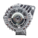 Power generator or alternator isolated on white background. Car engine parts. Stock Images