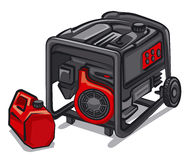 Power generator. Illustration of the power generator Royalty Free Stock Images