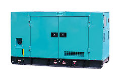 Power generator. Industrial diesel power generator on white background Stock Photos