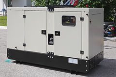 Power generator. Mobile diesel generator for emergency electric power Stock Images