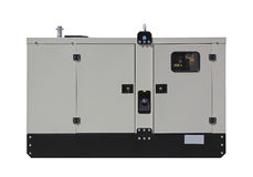 Power generator. Mobile diesel generator for emergency electric power isolated Royalty Free Stock Photography
