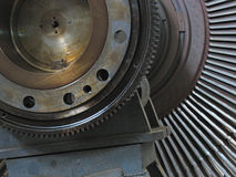 Power generator steam turbine during repair Stock Images