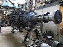 Power generator steam turbine during repair at power plant Stock Photos