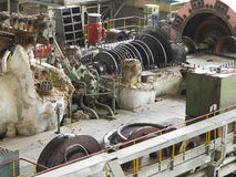 Power generator and steam turbine during repair Stock Photos