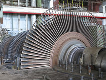 Power generator and steam turbine during repair Royalty Free Stock Photo