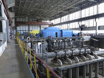 Power generator and steam turbine during repair Stock Image
