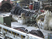 Power generator and steam turbine during repair Stock Photography
