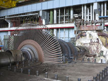Power generator and steam turbine during repair Stock Photo