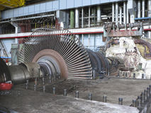 Power generator and steam turbine during repair Stock Images